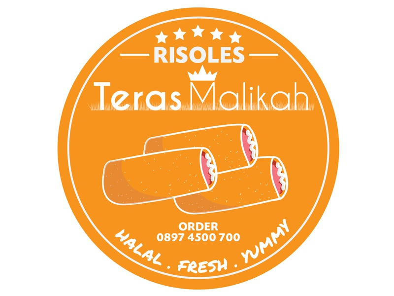 Risoles Teras Malikah Logo #2D Design vector illustration logo design