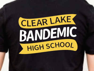 Commissioned Band Tee high school marching band bandemic banner vector hand drawn type flat illustration illustration