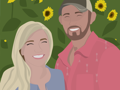 Sunflower Portrait illustration art illustrated flat illustration sunflowers illustration sunflower