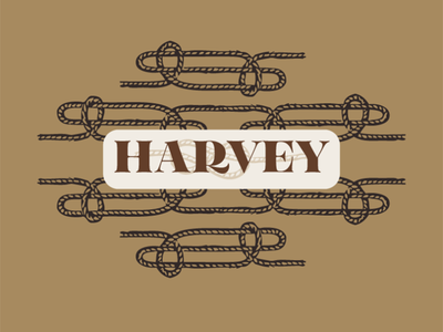 My dog, Harvey flat color illustrated vector flat illustration illustration rope pattern rope logo harvey rope branding brand identity brand system pet branding pet brand dog branding