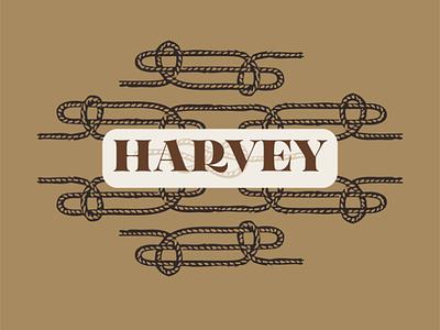 My dog, Harvey flat color illustrated vector flat illustration illustration rope pattern rope logo harvey rope branding brand identity brand system pet branding pet brand dog branding
