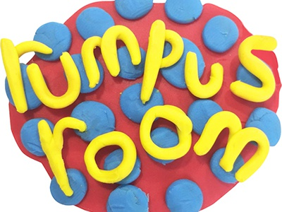 rumpus room logo fun fun logos innovative tactile primary primary colors child childrens toys logo clay