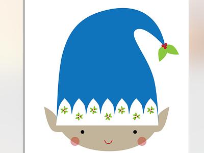 Elfie cute elf sweet illustration elf hat cute character smile blushing berries holly berry elf