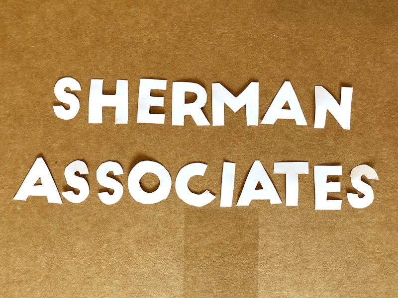 Sherman Associates Paper hand crafted typography handmade