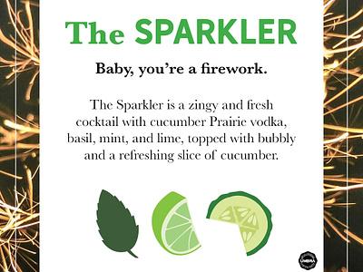 The Sparkler fun simplistic instagram copywriting restaurant flat illustration illustration social media