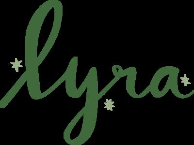 Lyra branding constellations stars illustrated hand lettering vector flat illustration hand drawn type illustration hand drawn logo constellation