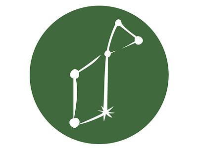 Lyra secondary lyra green constellations stars star constellation branding vector hand lettering hand drawn type logo illustrated hand drawn flat illustration illustration