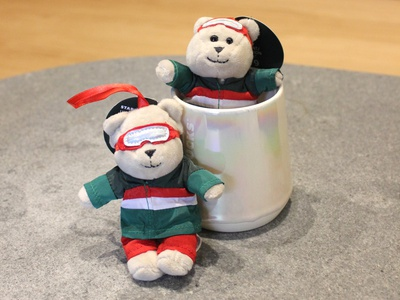 Bearistas photography branding holiday ornament ornament holiday photography barista bear starbucks
