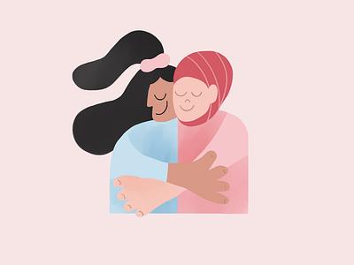 Friends - illustration campaign texture instagram post character design design procreate illustrator illustration