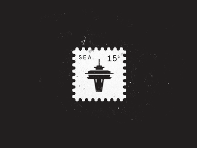 Space Needle texture illustration icon stamp seattle space needle