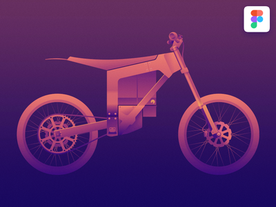 Electric Dirt Bike download free .fig file free download figma illustration icon bike motorcycle