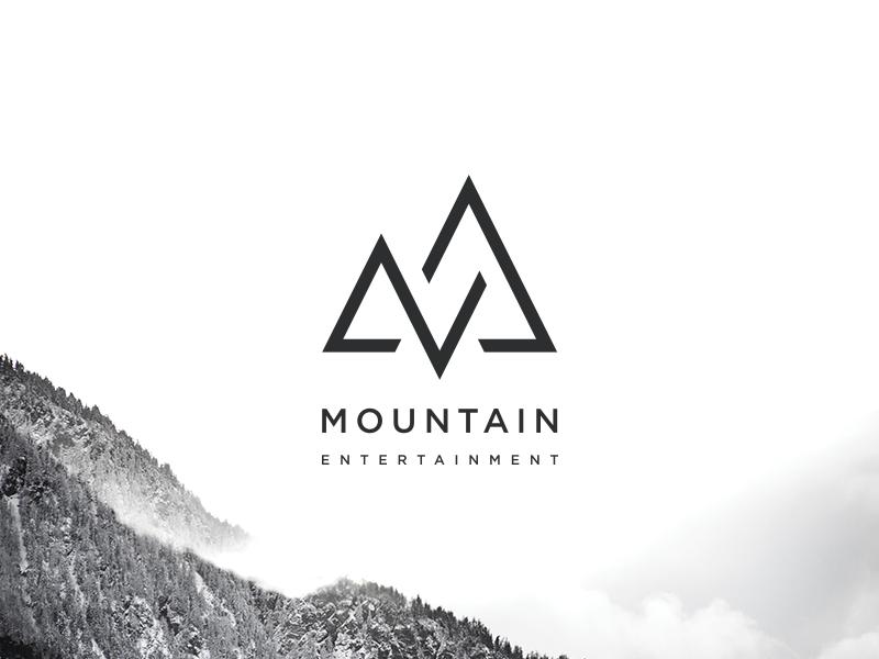 Mountain Entertainment Logo identity logotype branding mountain mark logo design