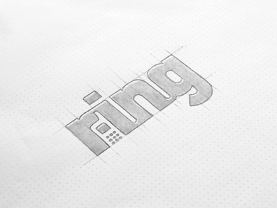 Ring - Negative Space Concept drawing clean phone sketch logo negative space identity branding logotype mark design