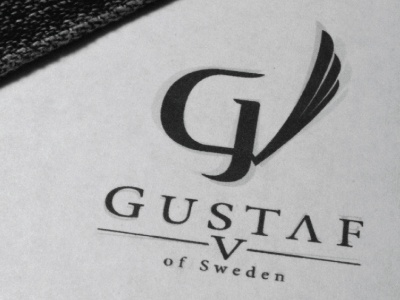 Gustaf V - Logotype logo logotype clothes clothing clothe brand fashion gustaf v of sweden fifth five king royal luxury luxurious