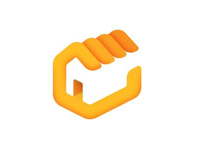 Household logo house home brand branding hand negative space sketch identity real estate
