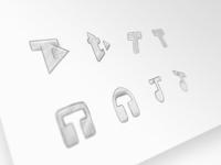 Tetrasonic note t identity branding brand sketch headphones play music