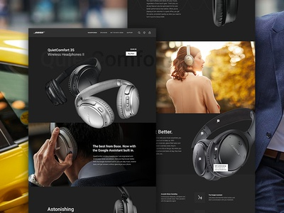 Bose QuietComfort Product Page Redesign