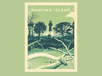 Hunting Island State Park Poster