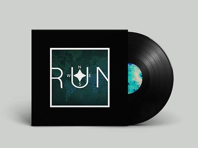 """RUN"" Vinyl vinyl blue white black ep run map fresh world smooth outlandish ai"