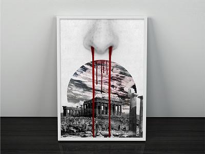 Nosebleed of the Creator hurt interior print society universe history nosebleed blood surrealism surreal art digital