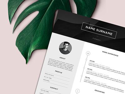 Resume scandinavian aesthetics professional luxurious minimalist clean white black design graphic cv resume