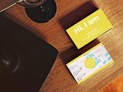 Positivity Lab Business Card youth community minimalist fresh yellow bright positive startup company lab positivity business card