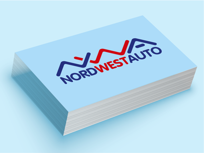 NWA logo (car accessories). Concept number 2 typography car full color branding logo vector emblem flat design