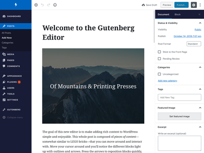 WordPress Admin Theme (Gutenberg)
