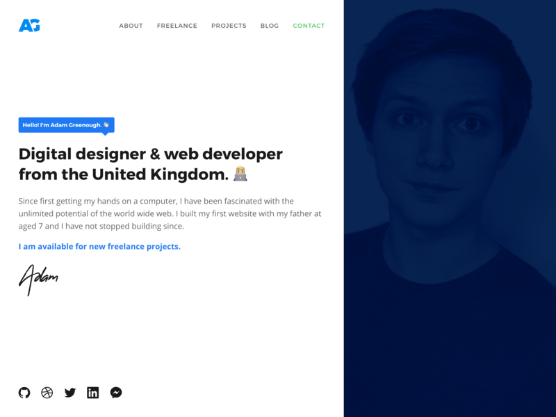Personal Homepage WIP wip portfolio design branding logo adam