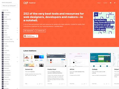 Hoard.fyi wordpress ux illustration gradient page logo dashboard app ui design