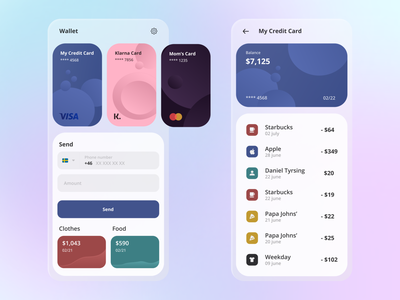 Financial Payment App create swish klarna cloud challenges ux ui mobile design branding app