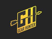 Gear Hunter Logo clean arrow web hunting gear yellow logo