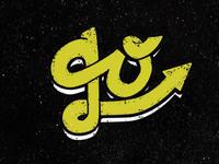 Go> illustrator vector grunge yellow design logo typography