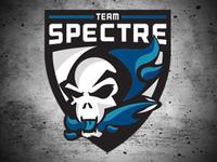 Team Spectre Logo blue vector clean racing sports badge ghost drone logo