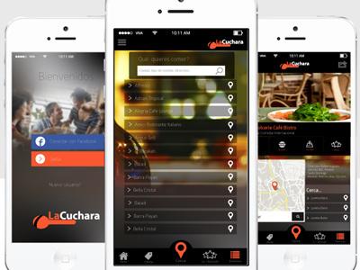 La Cuchara App - Prototype ux ui app