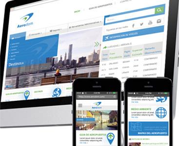 Aerodom Redesign Concept webdesign ux responsive