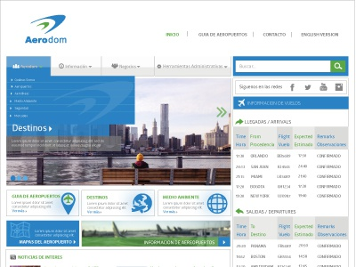 Another shot of Aerodom concept webdesign ux responsive