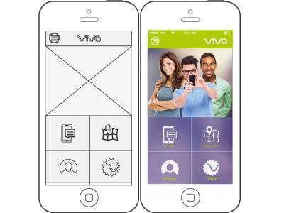 Another shot of Viva App concept app ux ui