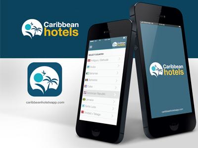 Work in Progress Caribbean Hotels App app ux design