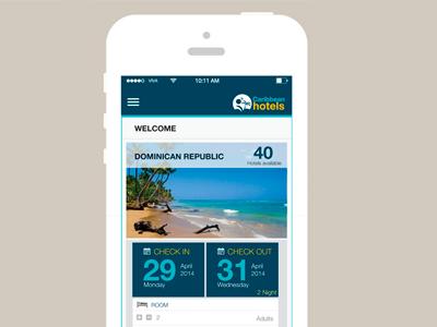 Caribbean Hotels App Concept shot 2 app ux design