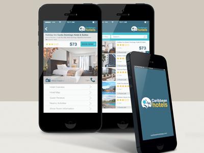 Caribbean Hotels App Concept shot 3 app ux design