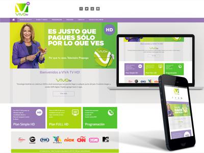 Viva TV Landing Page ux webdesign
