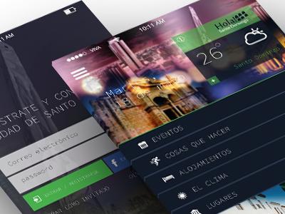 Hola Santo Domingo App Concept shot1 app ux design