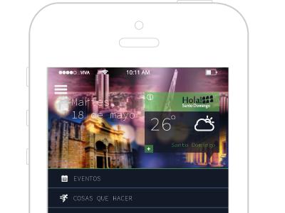Hola Santo Domingo App Concept shot2 app ux design