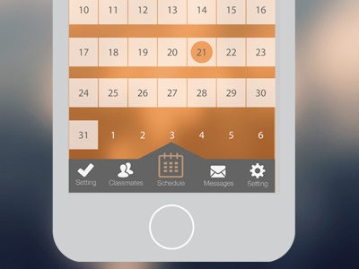 Work in Progress University App app ux design ui