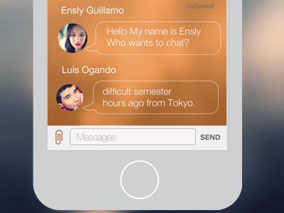 Work in progress University App Chat app ux design ui