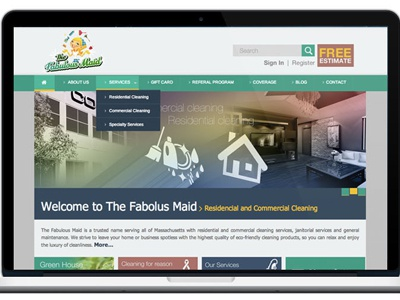 The Fabulous Maid Web Design webdesign
