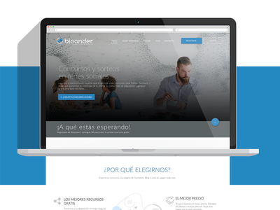 Bloonder Landing Page