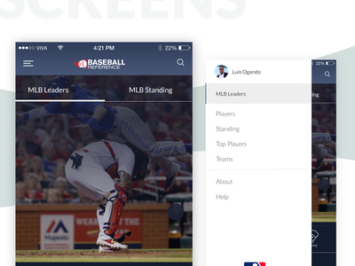MLB Baseball-Reference.com App ui ux