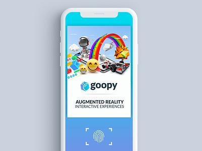 Scan Screen for Goopy.io AR App ar ui ux